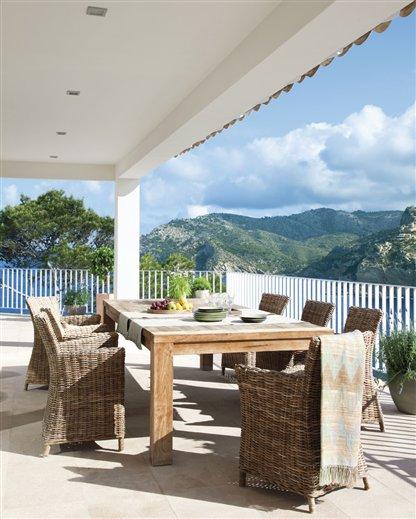 Una casa con las mejores vistas - Comedor de exterior ...