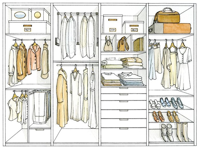 Ropero para dibujar imagui - Distribuir armario empotrado ...