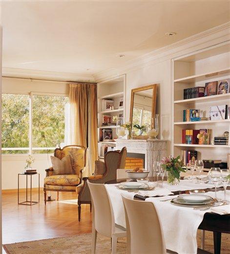 Una casa para aprender buena decoraci n for Comedor con chimenea