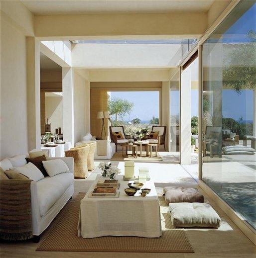 Un sal n de cristal con el cielo como techo - Muebles de pladur para salon ...