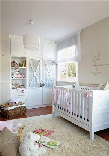 Blanco y rosa para su primera habitaci n - Habitacion infantil rosa ...