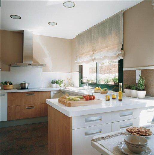 Dise ar bien la cocina base de la casa saludable for Cocinas con peninsula y mesa