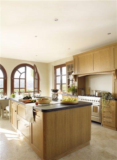 Dise ar bien la cocina base de la casa saludable - Encimera de madera para cocina ...