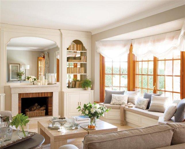Un sal n completamente actualizado for Muebles de salon con chimenea