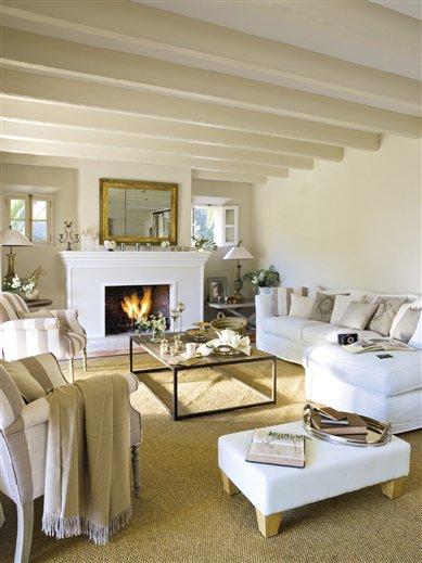 Un sal n decorado con artesan a mallorquina - El mueble chimeneas ...