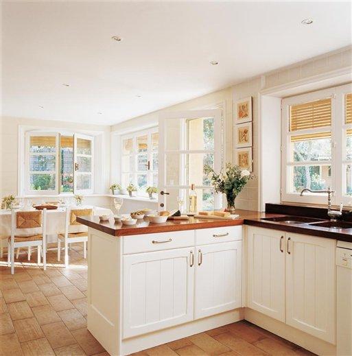 Stebbing house desing cocinas blancas - Cocinas con encimera de madera ...