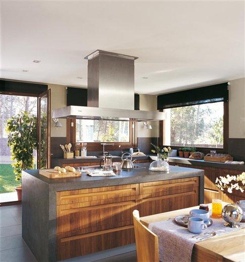 Encimeras de materiales naturales - Cocina encimera madera ...