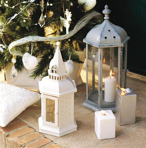Vestida de blanco y plata para la navidad - Farolillos de exterior ...
