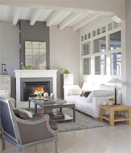 Una villa vasca renovada y encantadora - Salon con chimenea ...