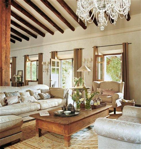 La zona de sofás del salón