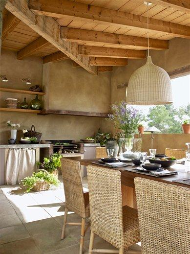 Pavimentos para cocinas de exterior - Cocinas de exterior con barbacoa ...