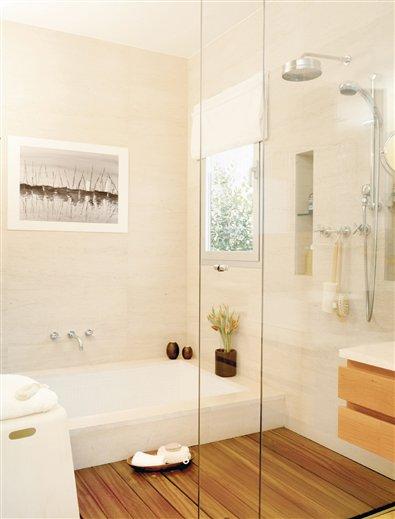 Ba era y ducha en paralelo para ba os estrechos for Banos con ducha y banera