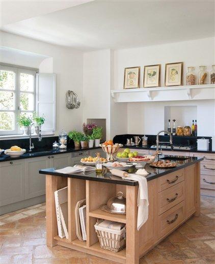 Desayunador de madera for Islas de cocina con desayunador