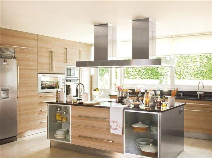 Cocinas madera clara dise os arquitect nicos for Cocinas claras modernas