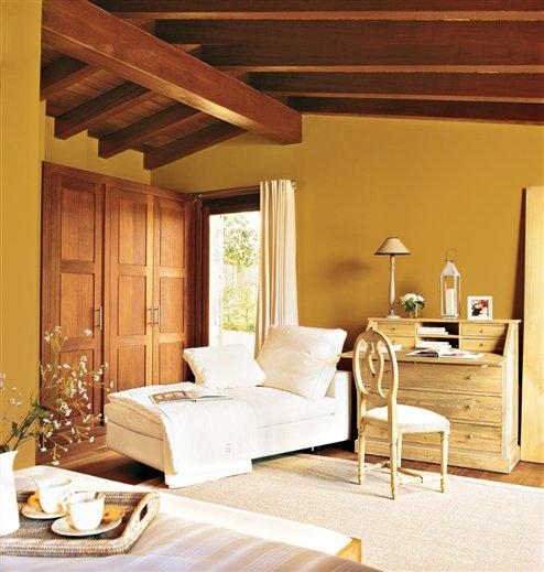 Colores c lidos los m s acogedores - Pinturas rusticas para interiores ...