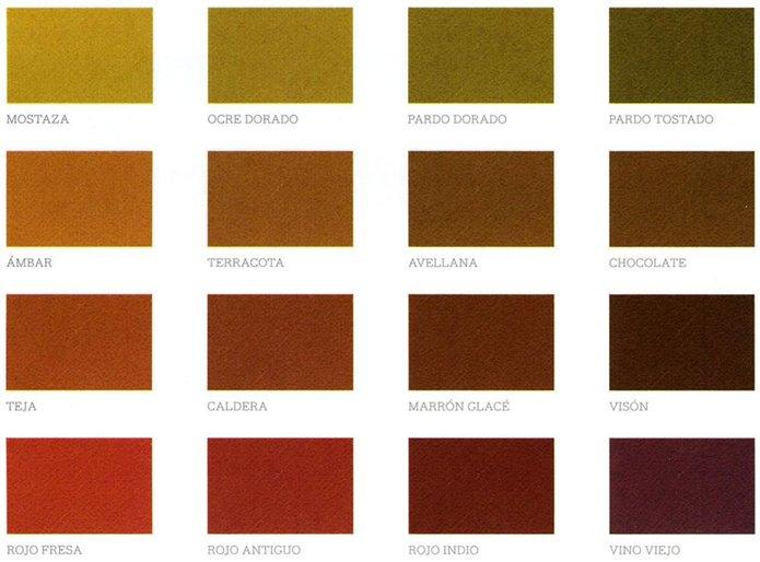 Colores c lidos los m s acogedores - Paleta de colores pintura pared ...