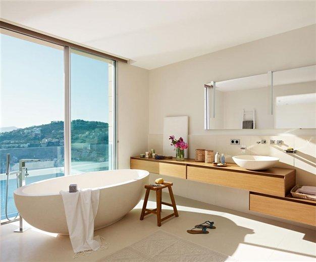 Baños Blanco Quintas:Baños de ensueño con bañeras exentas