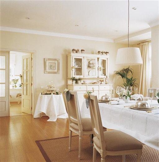 Shabby and charme una casa tutta bianca e beige for El mueble comedores