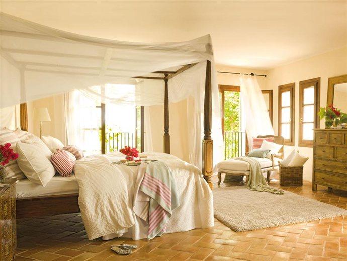 Un dormitorio mecido por la brisa