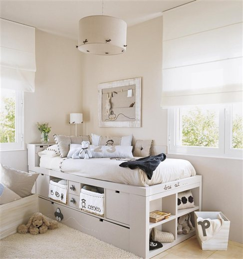 Noticias habitaciones infantiles and deco on pinterest for Camas con almacenaje