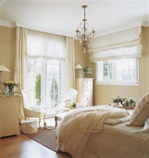 Shabby and charme una casa tutta bianca e beige - Estores dormitorio matrimonio ...