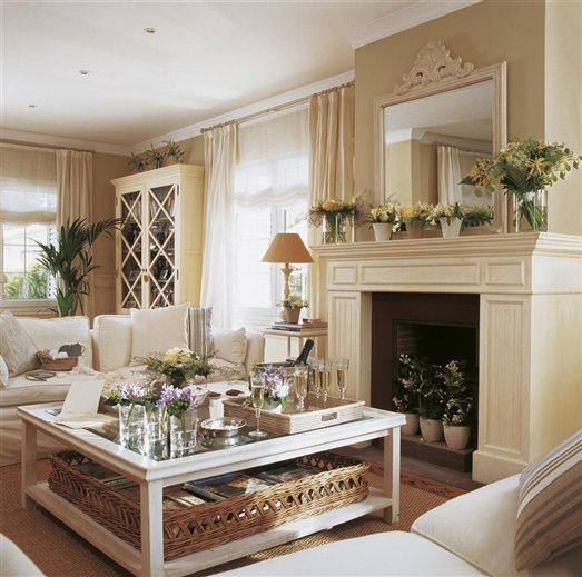 Shabby and charme una casa tutta bianca e beige - Lo ultimo en muebles de salon ...