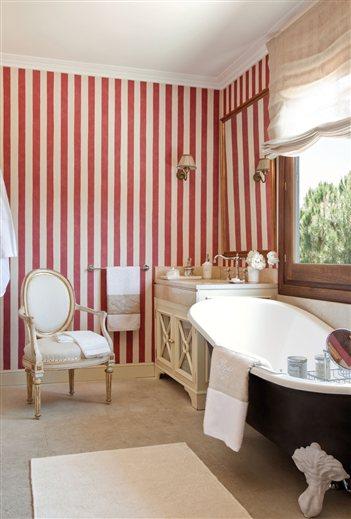 Llena tu casa de color muebles nina - Papel de pared de rayas ...