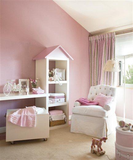 Todo hogar habitaciones color rosa for Recamaras rosas
