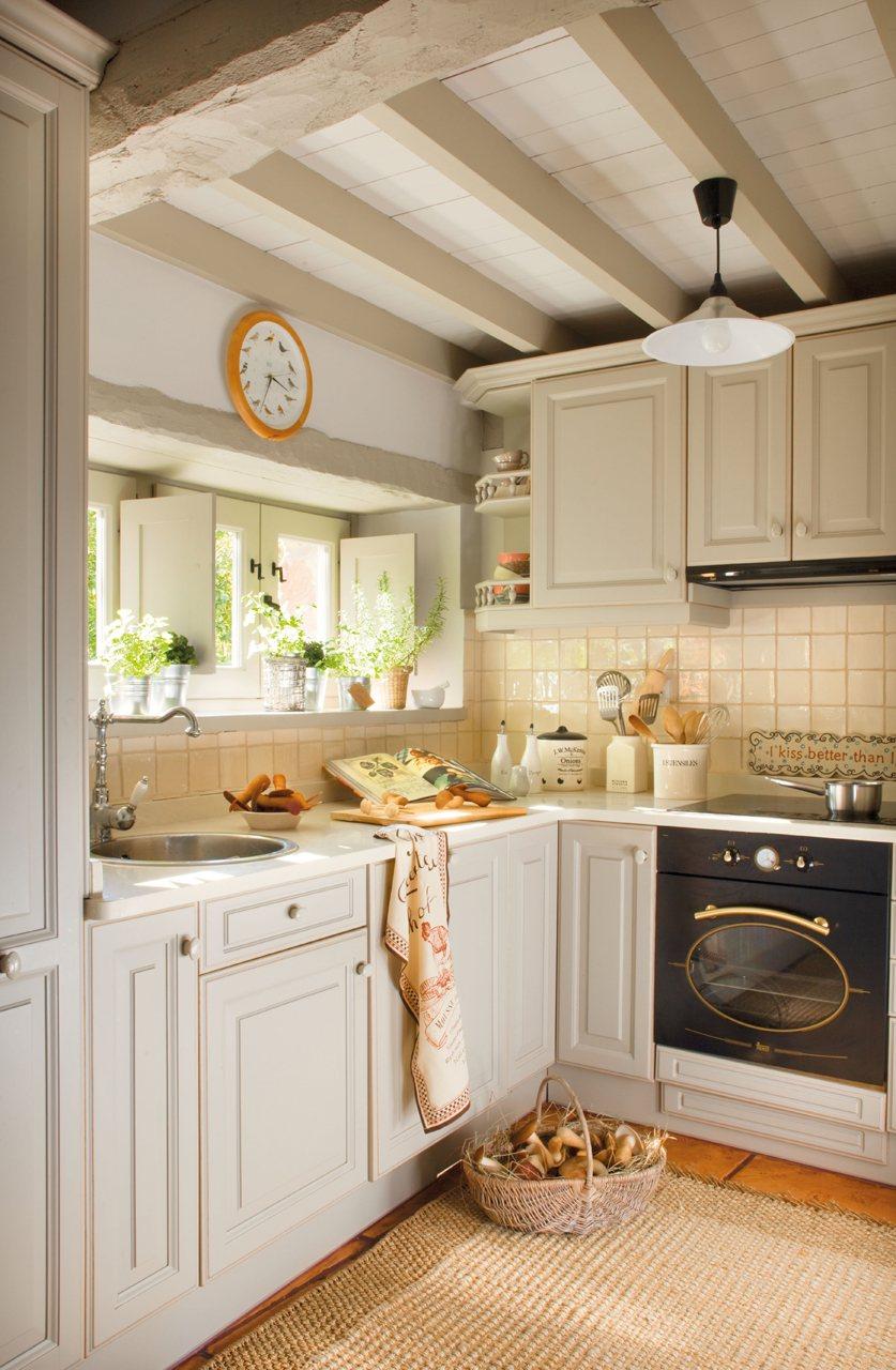 20 fotos de cocinas peque as bien aprovechadas for Cocinas en ele pequenas