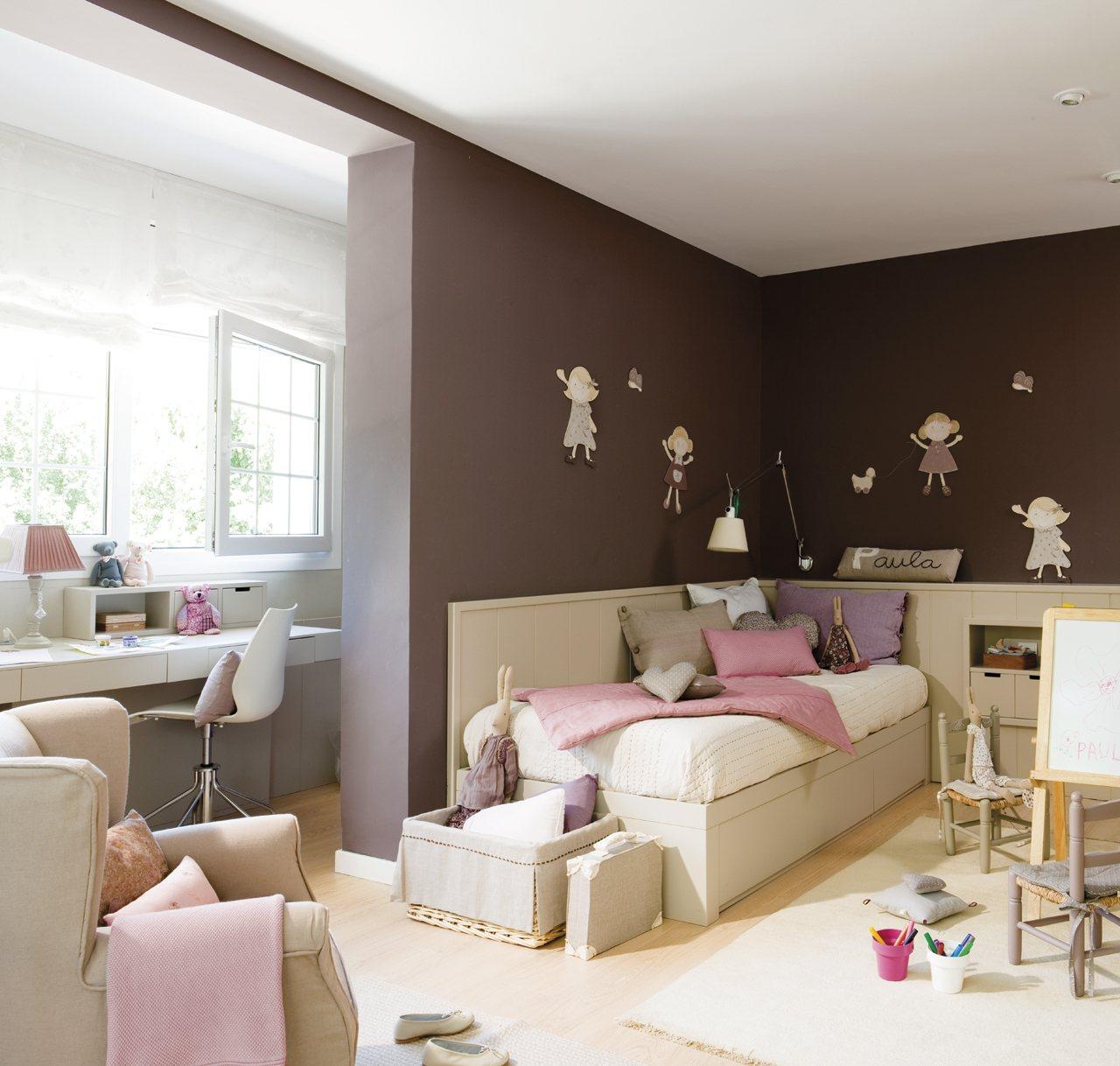 Un dormitorio muy completo lleno de luz y color - Luz para dormitorio ...