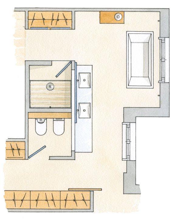 Dormitorio Baño Vestidor Plano:Un proyecto redondo
