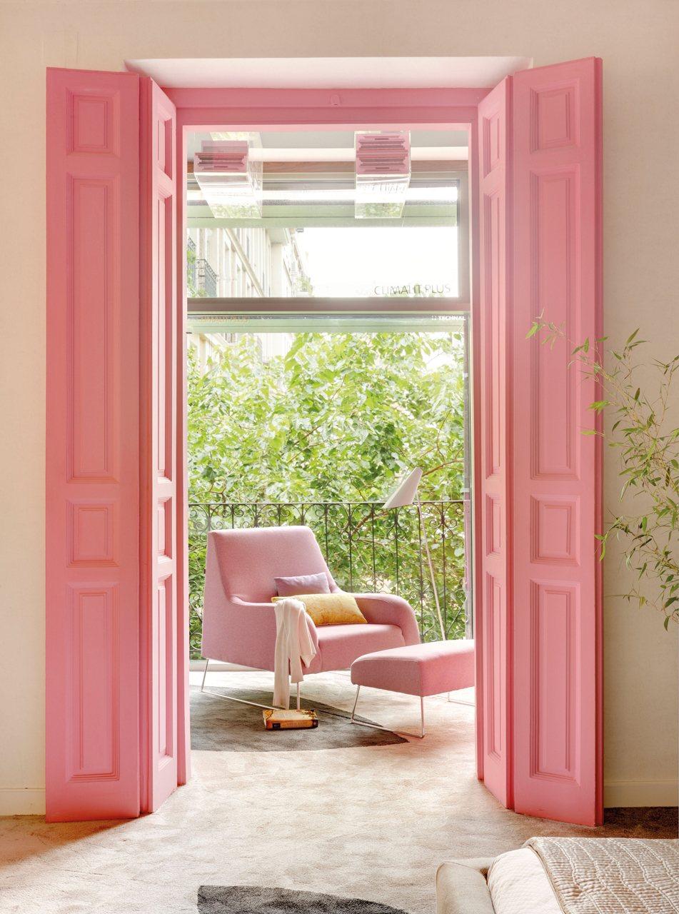 Rosa empolvado for Puertas para patio interior