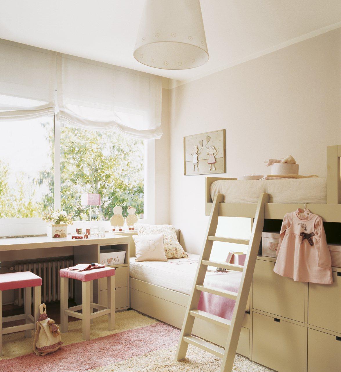 Dormitorios infantiles peque os s cales partido for Dormitorio para 4 ninos