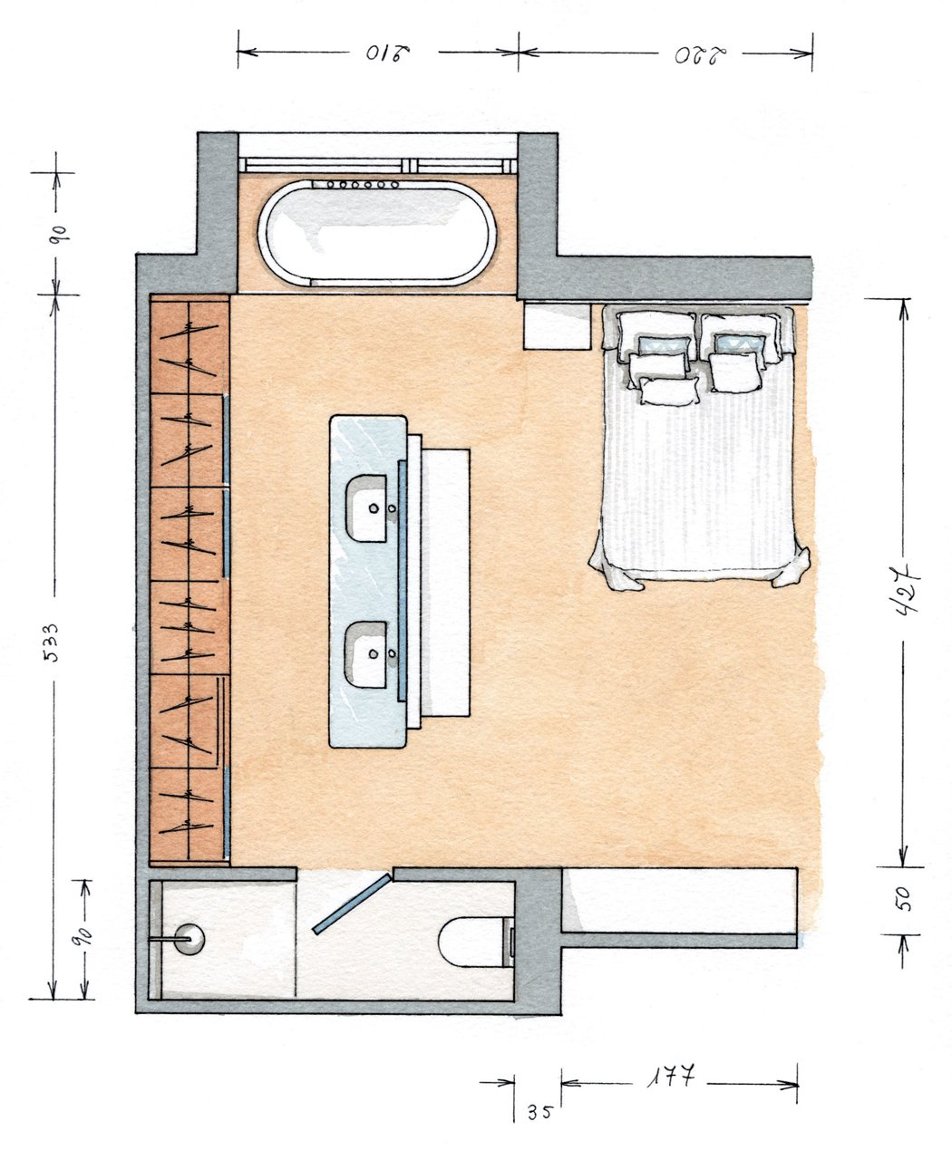 Un ba o reformado a medida for Planos de cocinas de 4x3