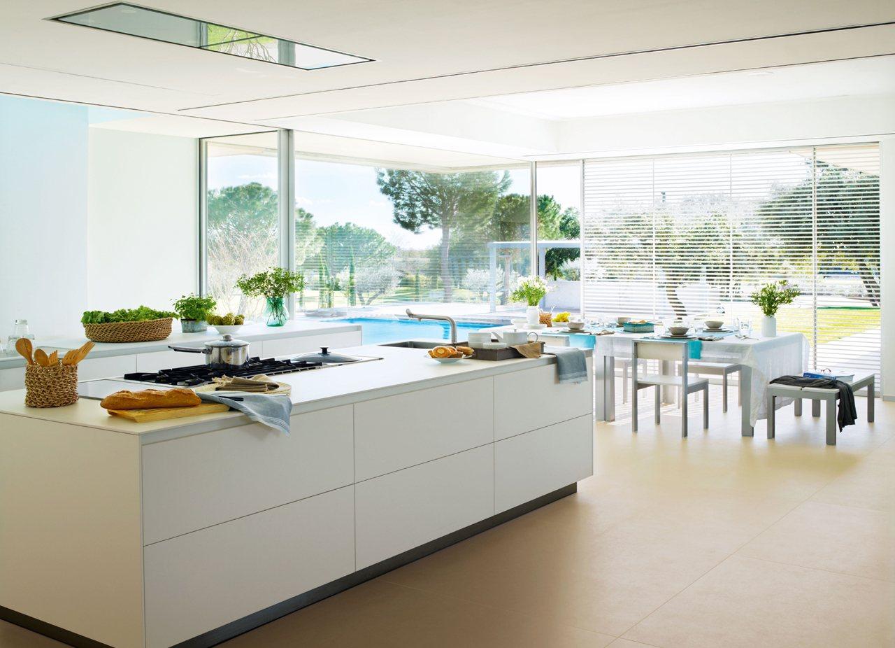 Una cocina luminosa y espectacular