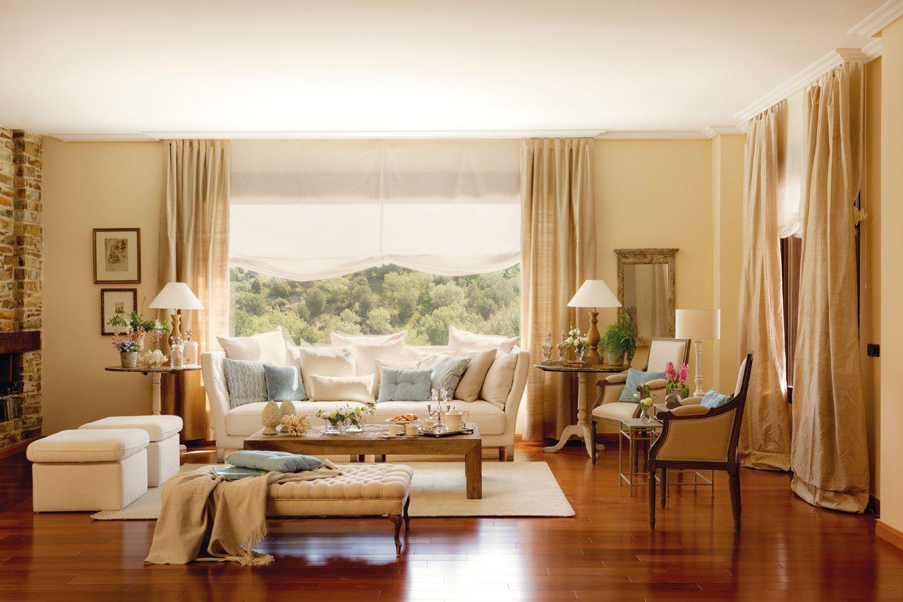 5 salones renovados por el mueble - Muebles clasicos salon ...