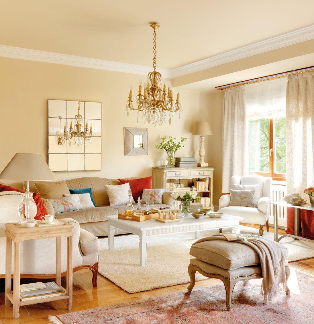 5 salones renovados por el mueble for Mueble ikea cuadrados