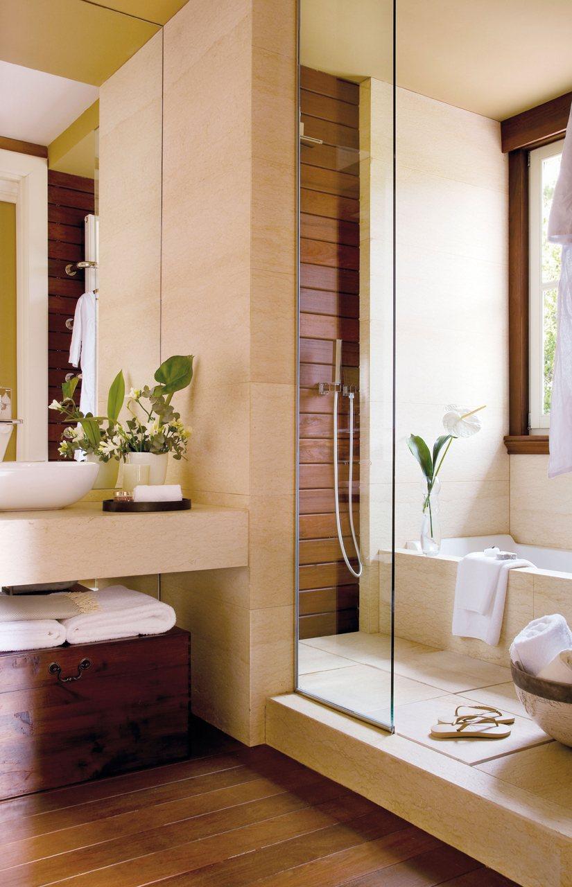Ba o con dos zonas diferenciadas for Plato de decoracion marroqui salon 2014
