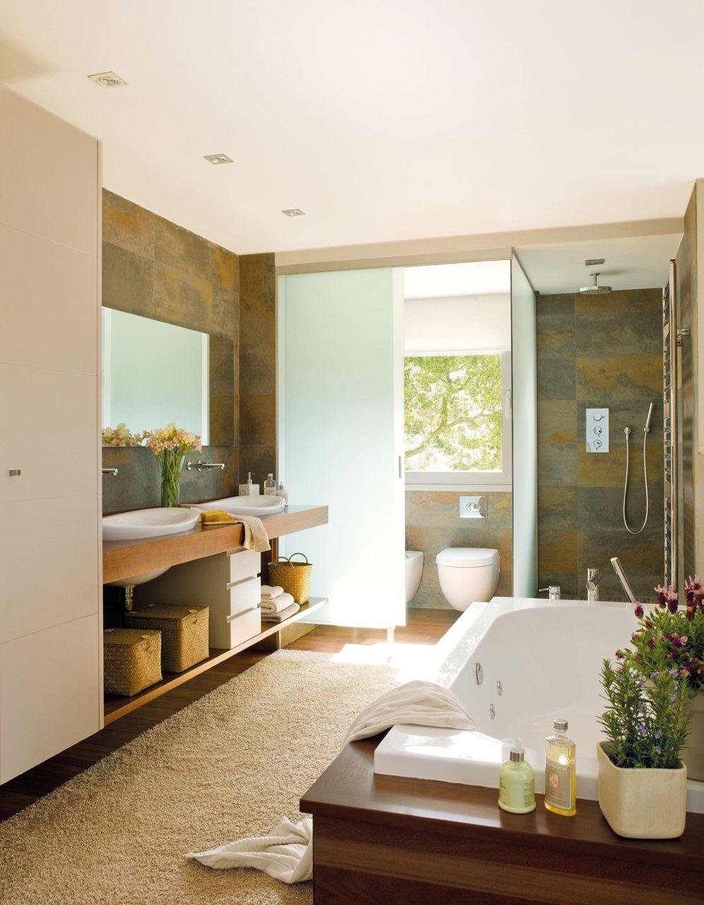 Un ba o pensado para compartir - Imagenes de banos con ducha ...