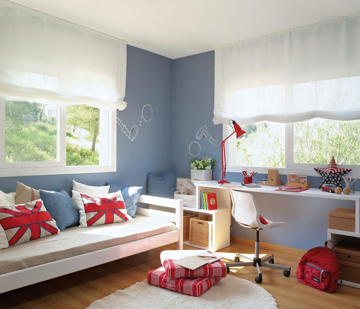 10 cuartos de ni os renovados por el mueble - Mejor luz para estudiar ...