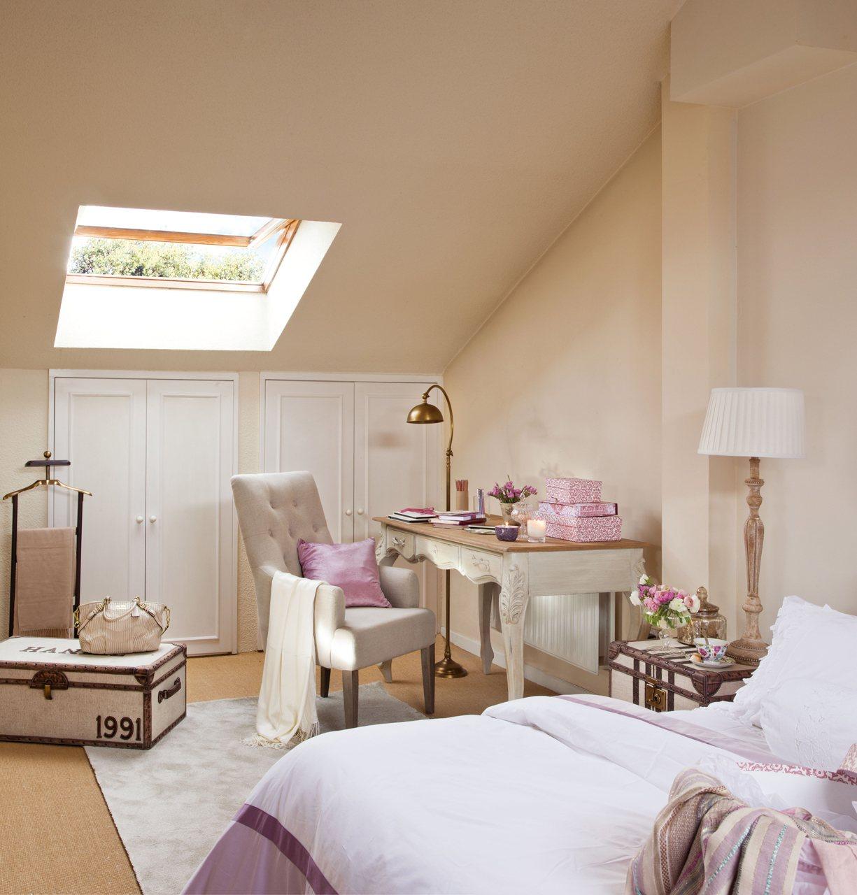 Dormitorios Con Armarios Empotrados Cheap Dormitorio En  # Muebles Buhardilla