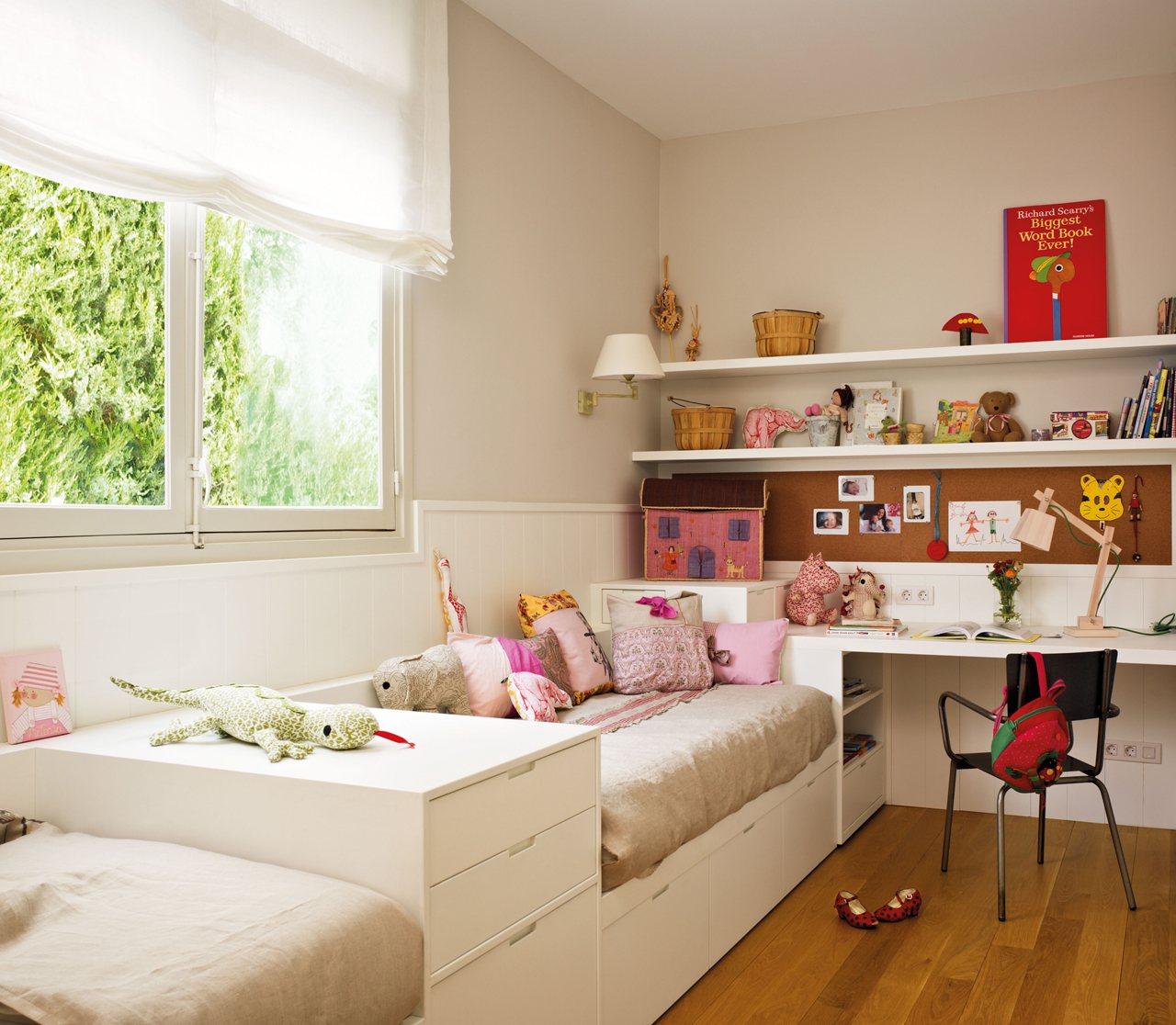Un tico con visi n de futuro - Dormitorio infantil nina ...