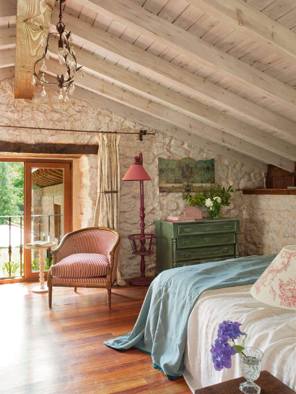 Dormitorio con aire vintage