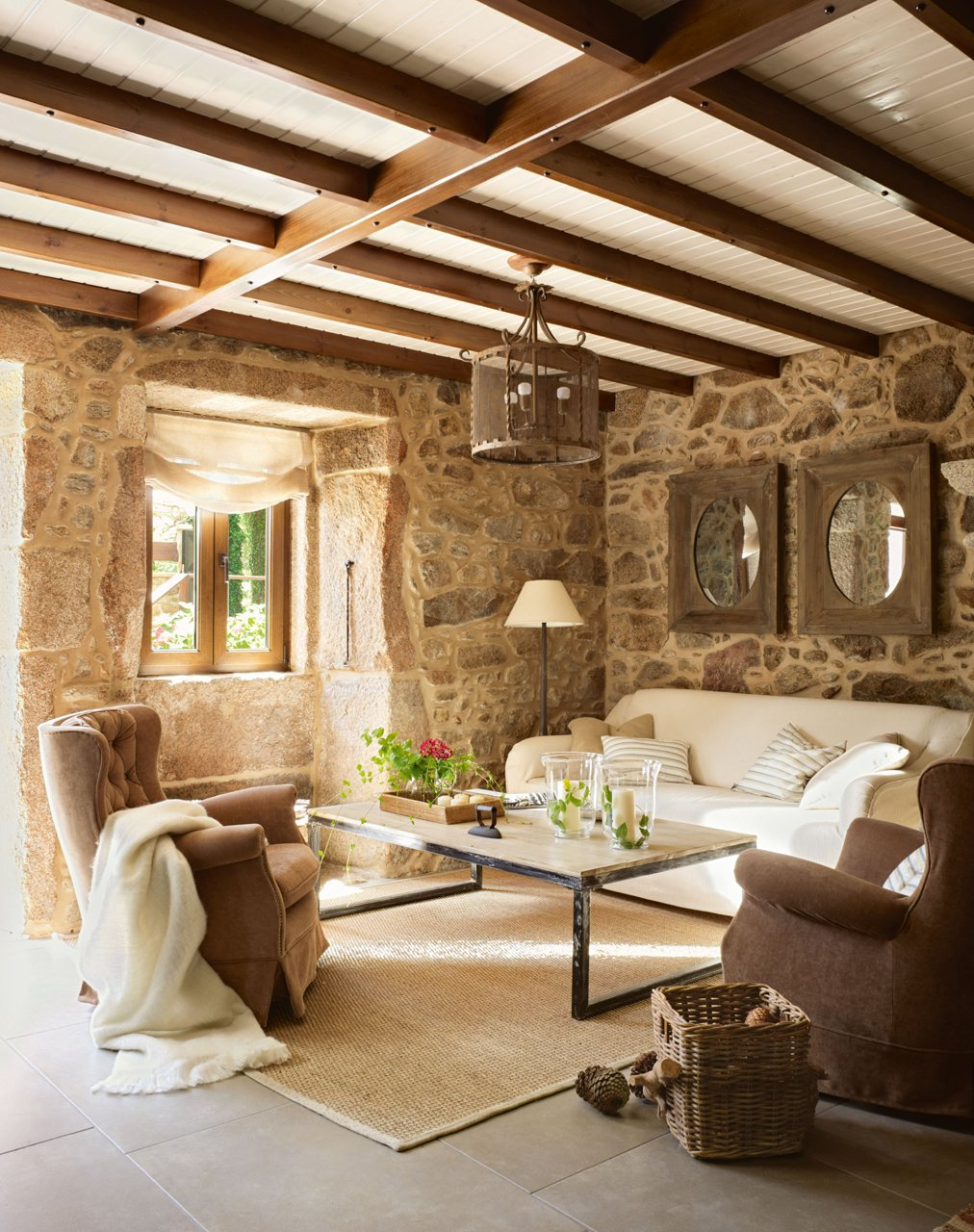 15 ideas para decorar salones r sticos for Modelos de living rusticos