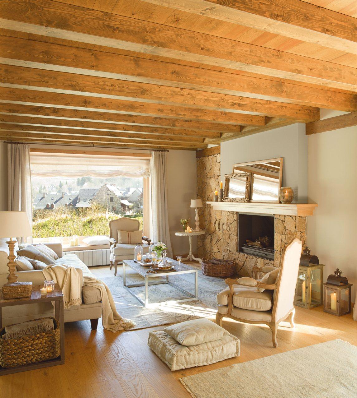 15 ideas para decorar salones r sticos for El mueble rustico