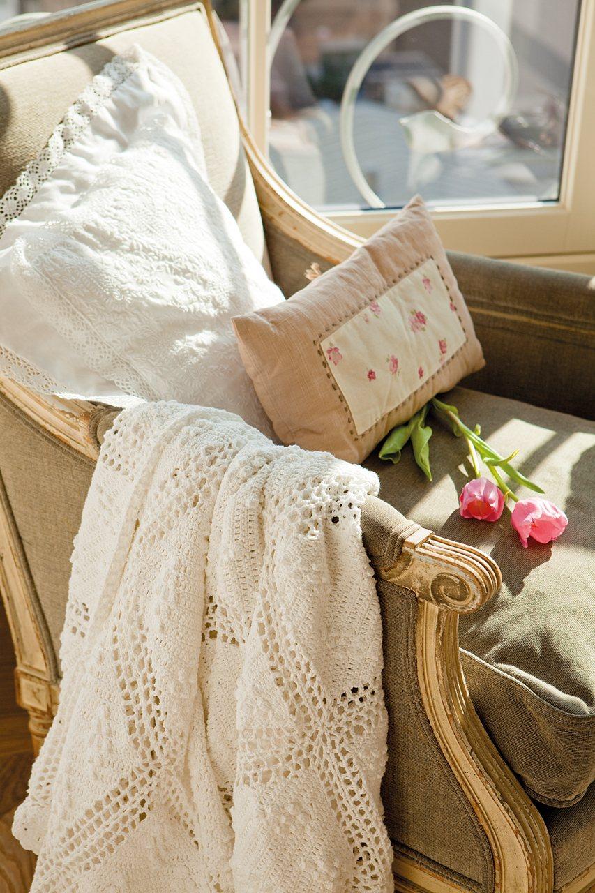 Un plaid hecho con crochet
