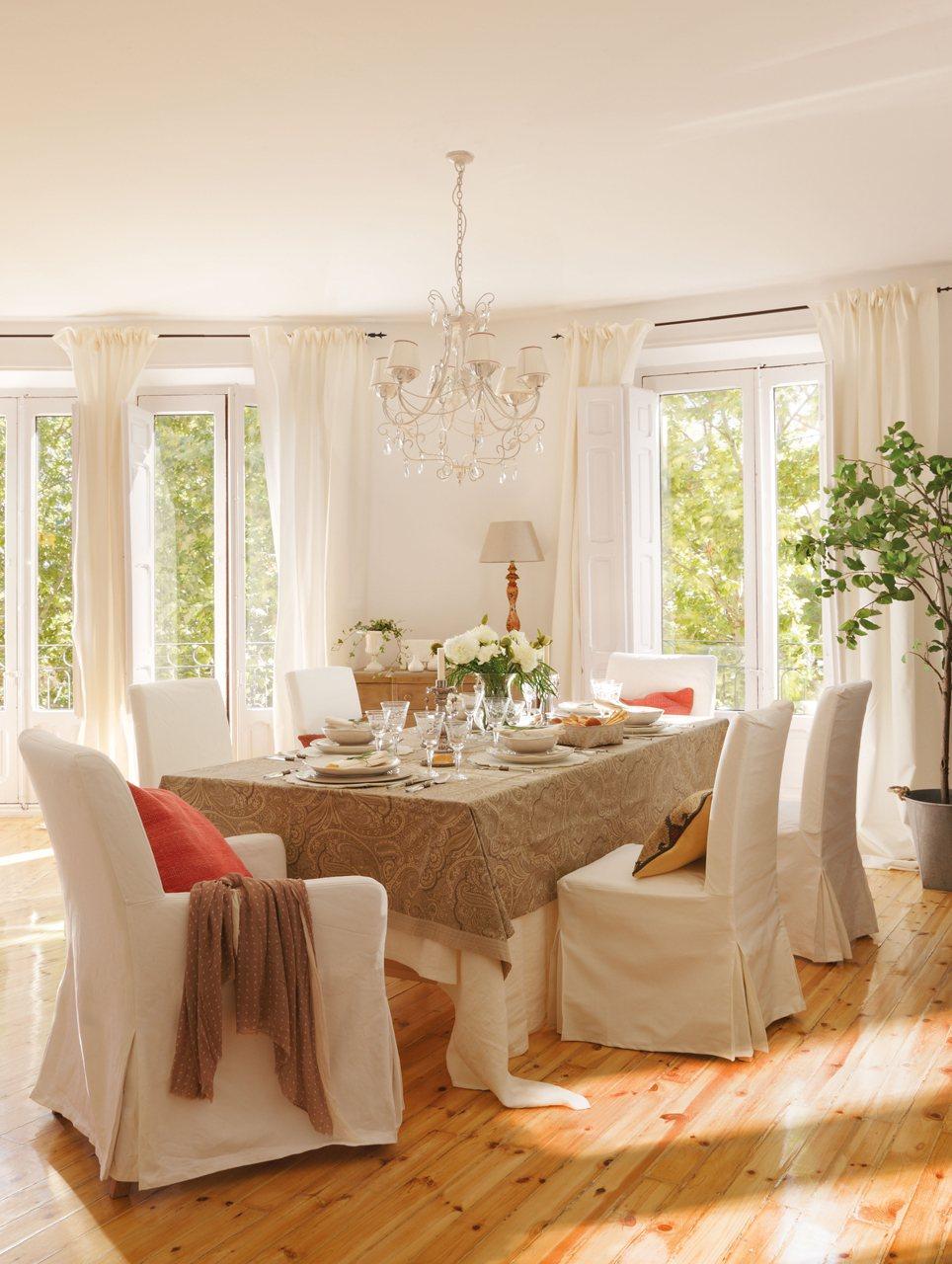 Consejos para decorar el comedor - Decorar muebles con tela ...