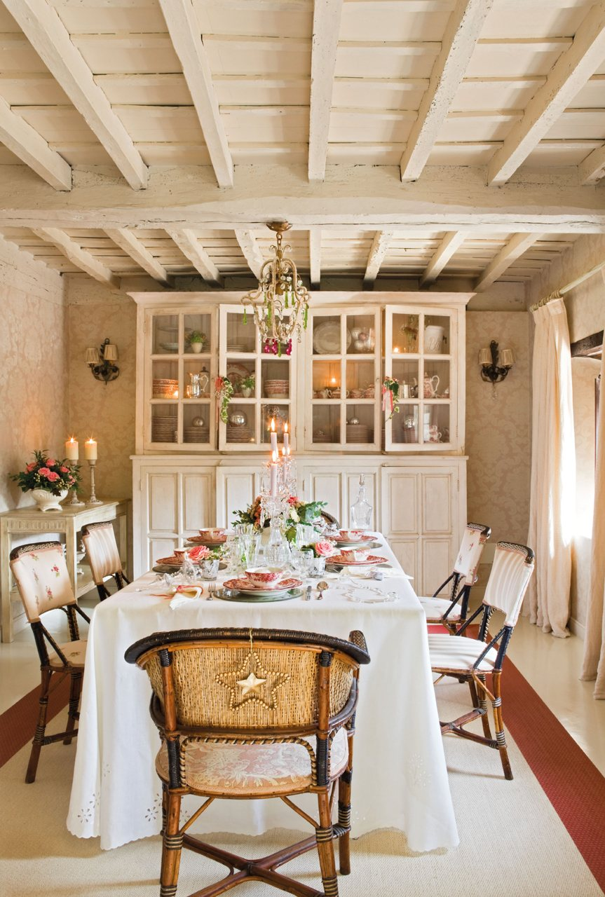 La decoraci n de una fiesta de fin de a o en una casa de campo - El mueble casas de campo ...