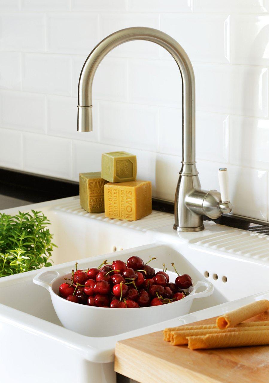 Reforma de una cocina abierta al comedor con un toque retro - Fregadero cocina ikea ...