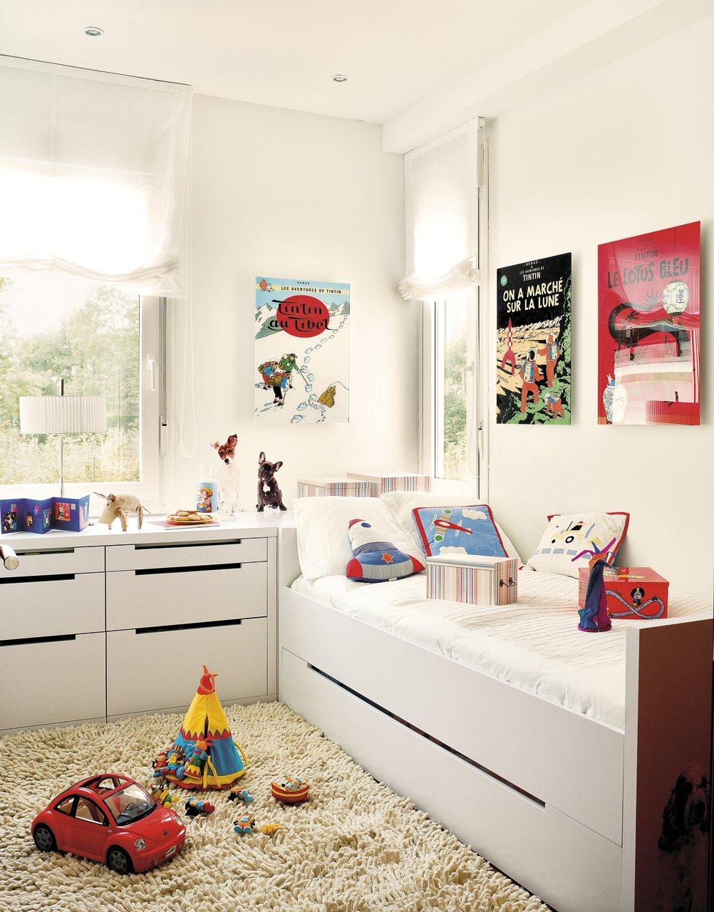 dormitorio infantil con cama nido sus personajes favoritos